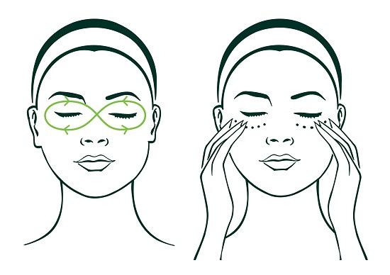 Massage chống lão hóa da tuổi 25 áp dụng cho vùng da mắt