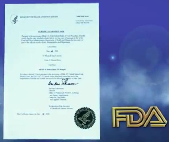 FDA chứng nhận về tính an toàn và hiệu quả