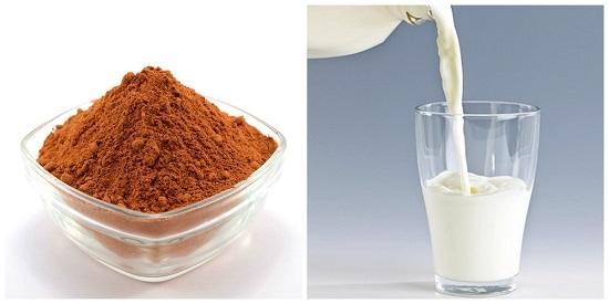 Dùng bột ca cao và sữa tươi để tăng đàn hồi, xóa nếp nhăn